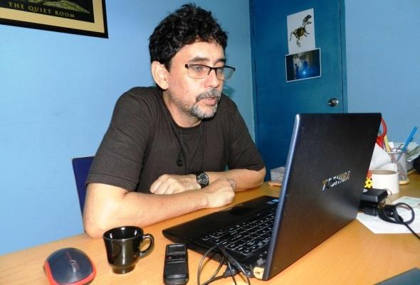 José Luis Santana, presidente y fundador del Festival Internacional de Videoarte de Camagüey