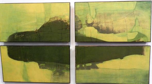 Sin Título. Conjunto. Obra de Osmany Soler. Dimensión 48 x 89 cm cada una