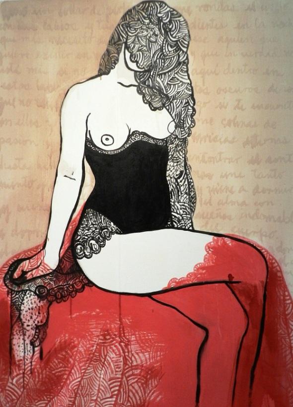 Obra Sin titulo. Autora Massiel García. D, 100 x 150 cm