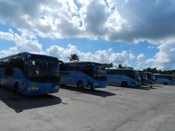 Parte del parque de ómnibus Yutong en Camagüey