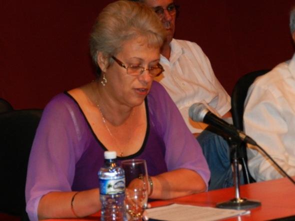 Doctora en Ciencias María Esther Noda, de la Junta de Acreditación Nacional