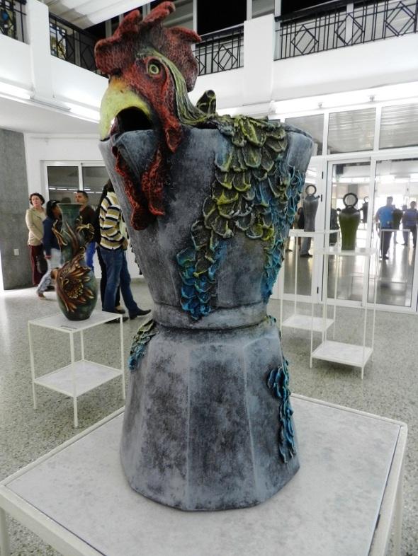 Obra Rocio del gallo. Autor Rolando García
