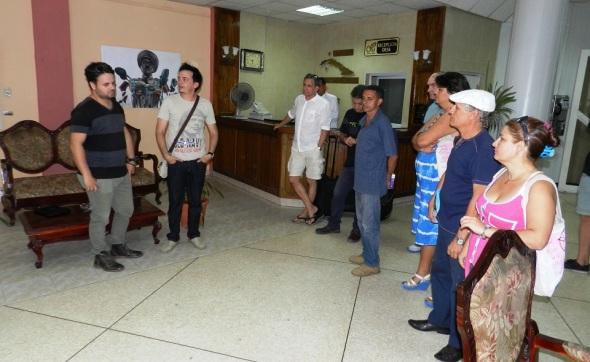 Proyecto pictórico cubano refleja a personajes universales del  cine, Foto Lázaro David Najarro