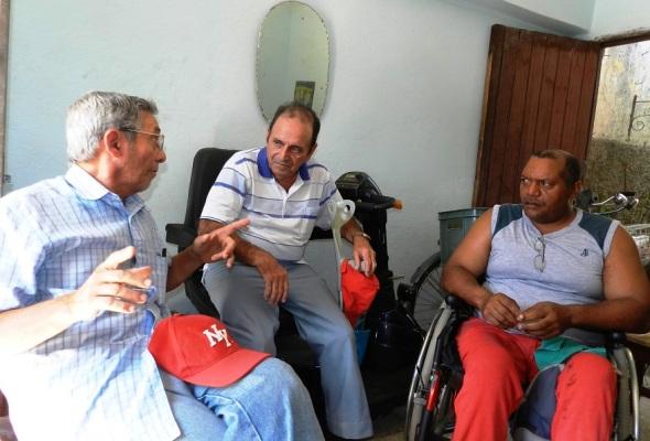 De izquierda a derecha José Sola, Pedro García y Glicerio Verdecia