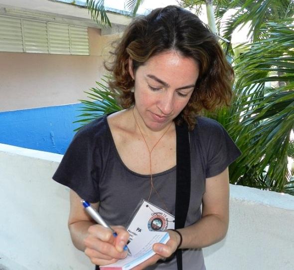 Doctora en Ciencias María Alejandra Pérez, profesora de geología de la Universidad de Virginia del Oeste (2)