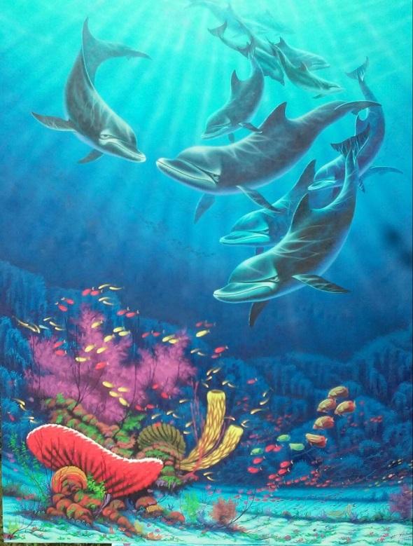 Domina la habilidad de pintar sobre los fondos del mar