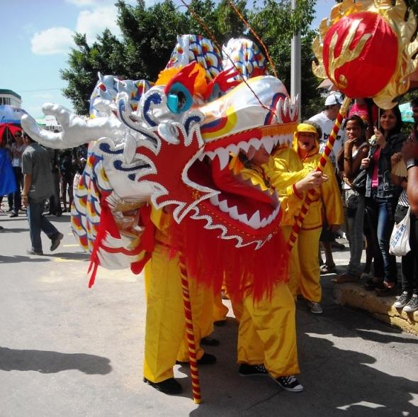 El dragón chino en Romerías