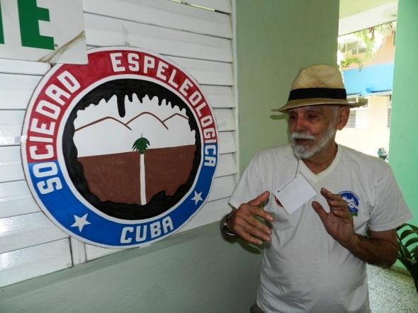 El vicepresidente de la Federación Espeleológica de América Latina y el Caribe, Ángel Graña  (1)