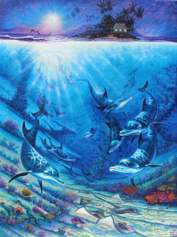 Felo Villalonga su inspiración en el universo subacuático del Mar Caribe