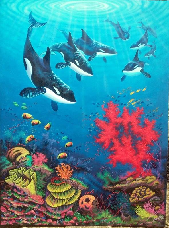 Inspiración en el tema sub-acuático del Mar Caribe