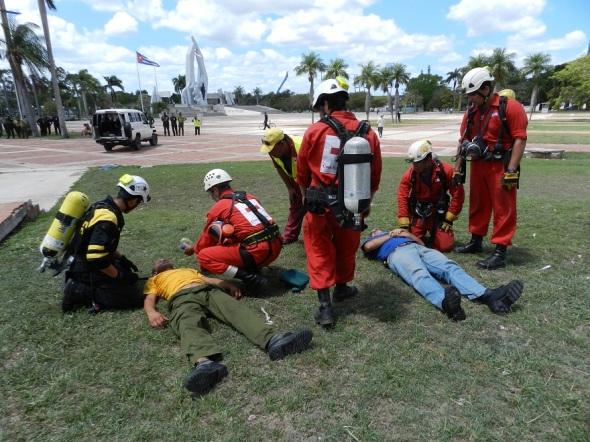Los primeros auxilios luego de ser rescatados
