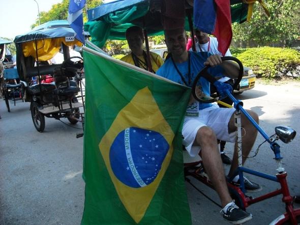 Representación de Brasil en las Romerías de Mayo