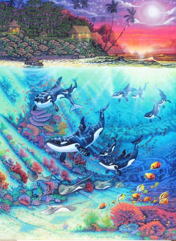 Uno de los pocos artistas en el mundo que incursionan en la pintura subacuática