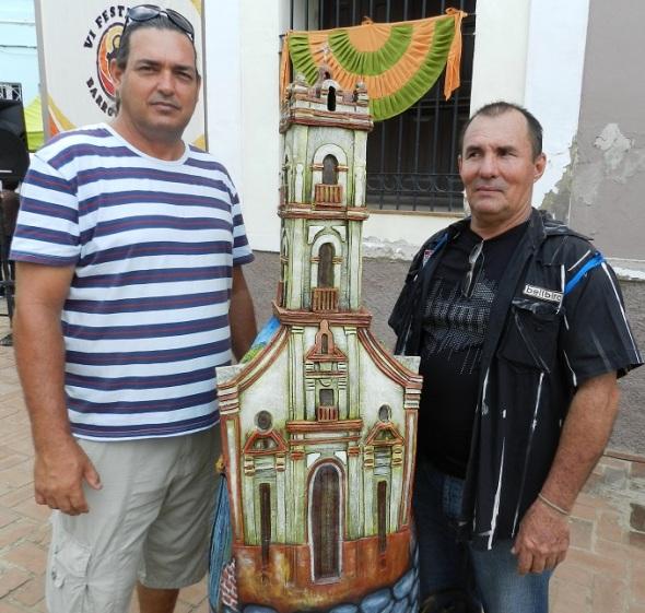 Enrique Cerulia Pérez y Fidel Brizuela Almira de izquierda a derecha
