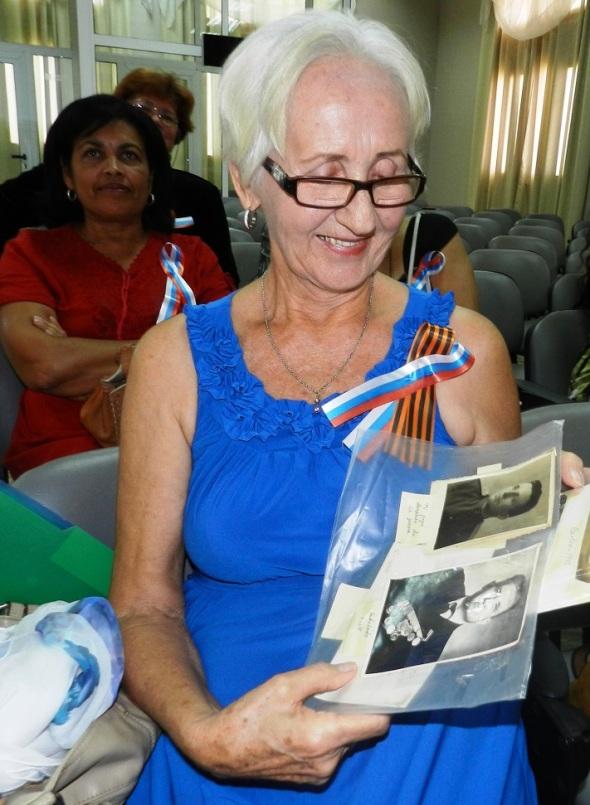 La sobreviviente rusa Aleftina Primelles, hija de un piloto soviético de la Gran Guerra Patria
