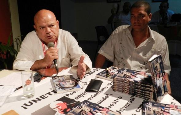 Luis Arias Manzo presidente del Movimiento Poetas del Mundo.Foto Lázaro Najarro