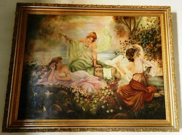 Pintura original de Estela Agramonte, nieta de Ignacio Agramonte