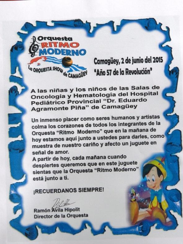 En el pediatrico de Camagüey muestra de amor y cariño (1)