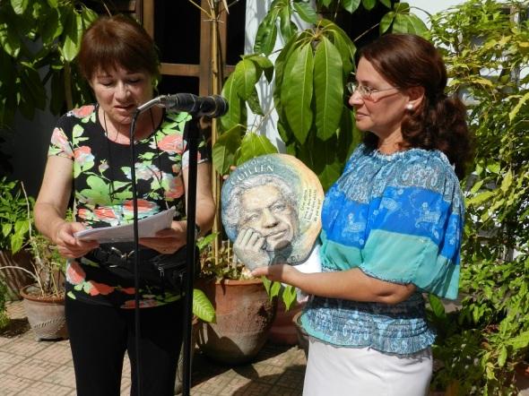 Artista argentina de la plástica Diana Irago. Foto Lazaro Najarro