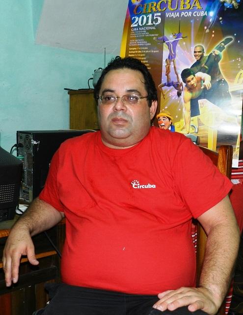 José Manuel Cordero, coordinador general XIV Festival Internacional Circuba 2015