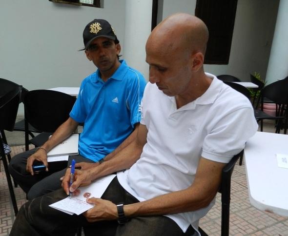El artista cubano Gregorio Pérez
