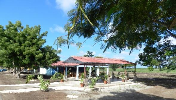Centro recreativo en el Parque Botánico Julián Acuña Galé, Camagüey, Cuba