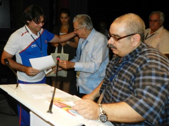 Concluyo Congreso de ortopedia con la cere,monia de premiació, Foto Lázaro D. Najarro Pujol