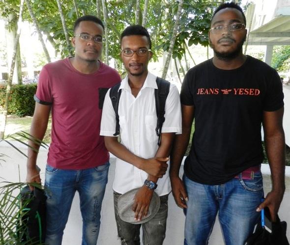 En la foto de izquierda a derecha Tomás Segundo Laivongue, Jorge Abel Vasco Caliata y Gilberto Coragew Messo. Foto Lázaro Najarro