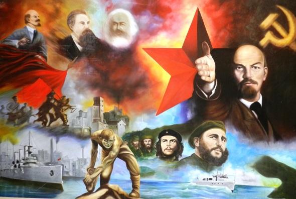 Mural en Empresa de Fertilizantes y Plaguicidas Revolución de Octubre