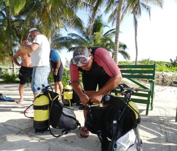 Luego de la preparación todo dispuesto para la inmersión