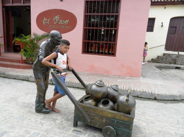 El vendedor de agua, representado por un personaje real de la barriada del Carmen, Gerardo García Prada, ya fallecido
