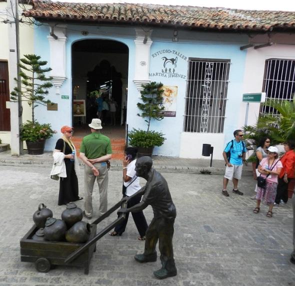Galería de Martha Jiménez, en la Plaza del Carmen.