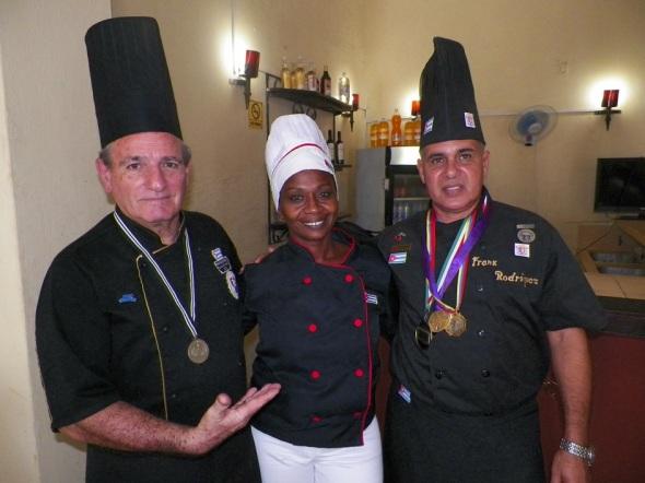 Integrantes de la Sociedad Internacional Nitza Villapol y la Asociación Culinaria de Cuba en Camagüey