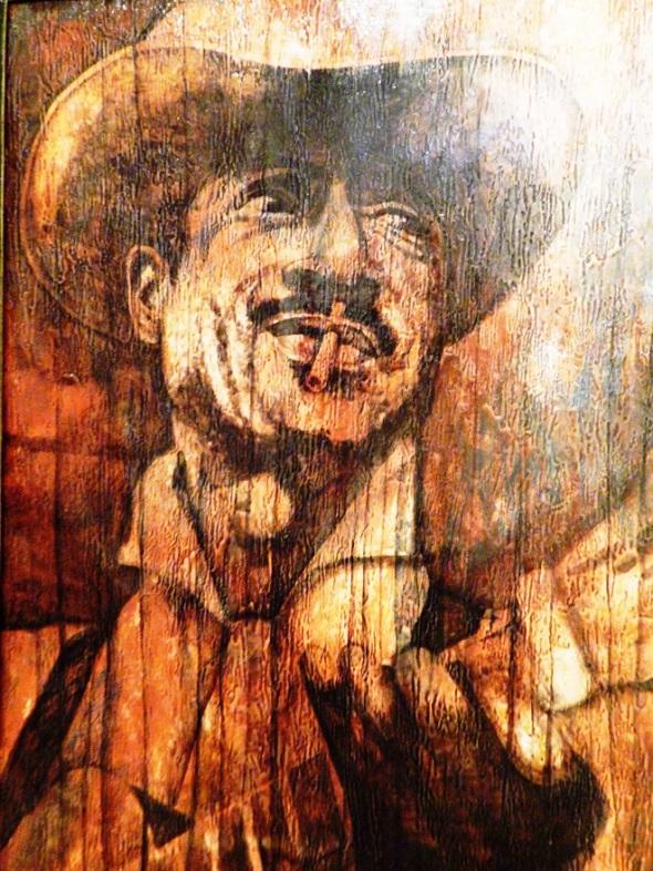 Bartolomé Maximiliano Moré Guitierrez (Benny Moré). Acrilico-lienzo. 135 x 90 cm. 1915