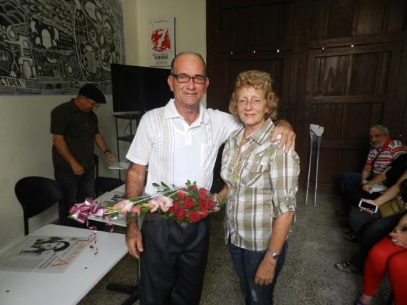 Miozotis Fabelo Pinares y Sergio Morales