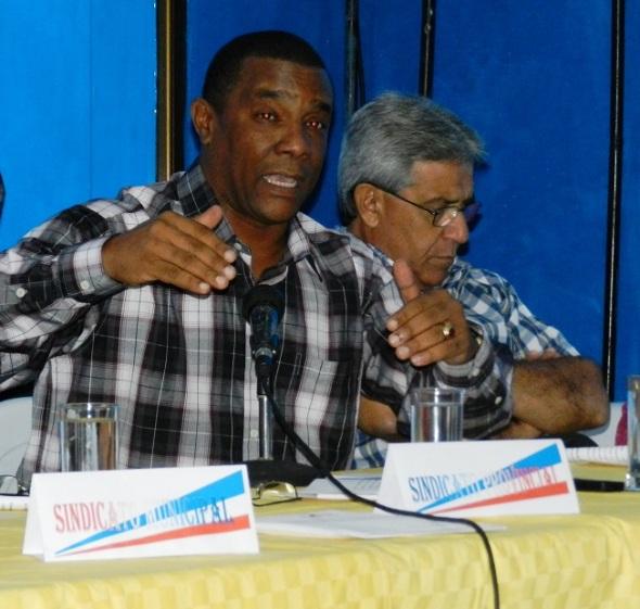 Pedro Victor Simón Rodríguez, secretario General del Sindicato Nacional de los Trabajadores del Comercio, la  Gastronomía y los Servicios
