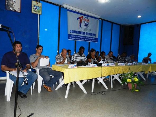 Primera Conferencia Municipal del Sindicato Nacional de los Trabajadores del Comercio, la  Gastronomía y los Servicios en Camagüey