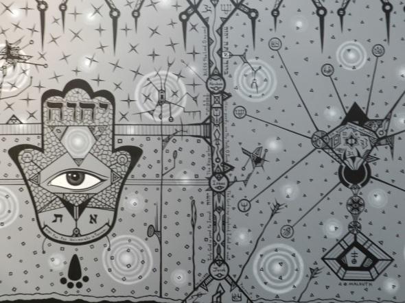 Elías Henoc  . Título Dalkut. Técnica Acrilicolienzo. Dimensión 174 x 57 cm