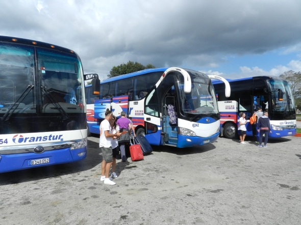Los visitantes viajaron a la playa de Santa Lucia