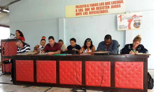 Primera Conferencia municipal del Sindicato Nacional de Trabajadores Agropecuarios y Forestales