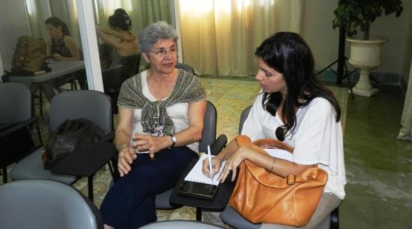 Gina Rey durante una de las sesiones del Simposio