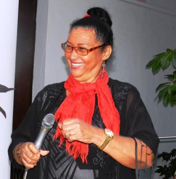 Idalgiza Salazar ofreció algunos números del repertorio musical cubano