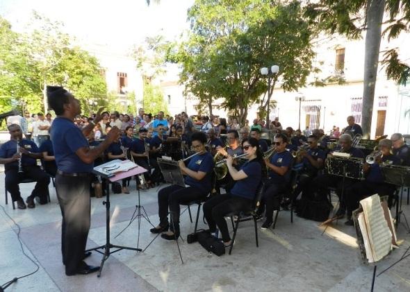 La Banda Provincial de Conciertos interpretó canciones emblemáticas de autores camagüeyanos y cubanos como aquel 24 de febrero de 1912