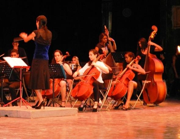 La musica en la Gala por los 502 años de la fundación de la  villa de Santa María del Puerto del Príncipe, hoy Camagüey. Cuba
