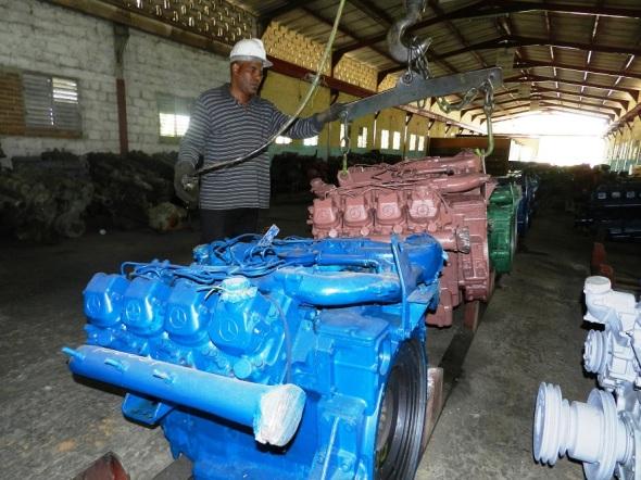 Motores listos para enviar a las entidades azucareras cubanas