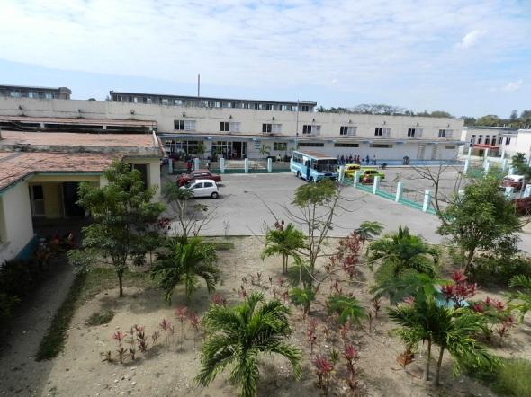 Área exterior del hospital