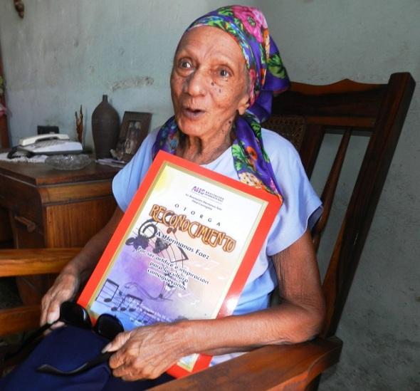 Cándida Rosa, ahora con 85 años de edad