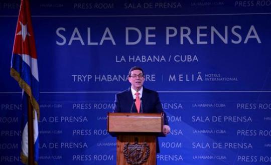 Declaraciones de Bruno Rodríguez Parrilla, Ministro de Relaciones Exteriores de Cuba, a la prensa nacional e internacional