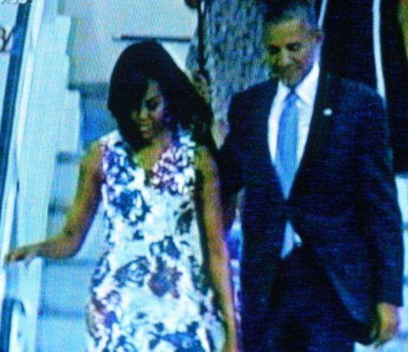 El presidente de los Estados Unidos, Barack Obama, arribó esta tarde a La Habana
