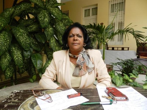 Elena Morris Betancourt, directora, del  Hotel Colón, Camagüey, Cuba